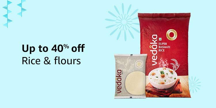 Up to 40%: Rice & flours