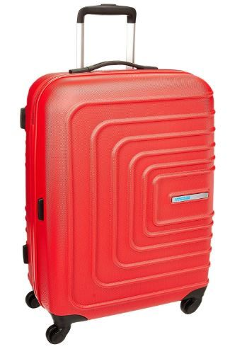 Flat 70% off American Tourister Sunset Square ABS 55 cms Red Hard Sided Carry-On