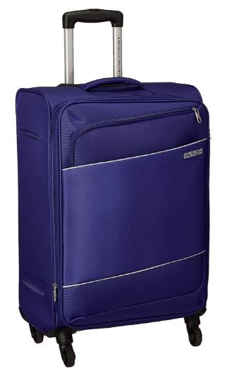 Flat 70% off on American Tourister Timor Polyester 67 cms Blue Softsided