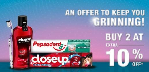An Offer to keep you Grinning - Up to 30% off Buy 2 at Extra 10% off