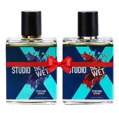 Flat 50% off on Set Wet Studio X Edge and Impact Perfume Spray For Men, 49ml (Pack of 2)