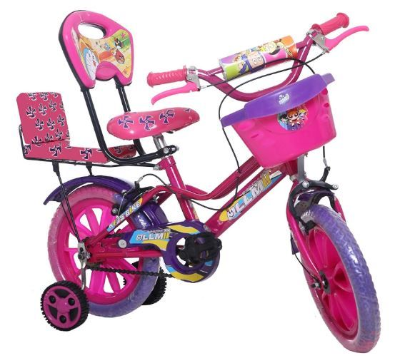 Flat 40% off on ollmii Unisex Kids Cycle 14 inches (Pink & Purple)