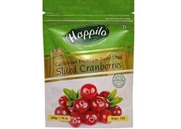 Flat 50% Off: Happilo Premium Californian Dried and Sweet Sliced Cranberries, 200g