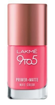 Flat 35% off on Lakme 9 to 5 Primer and Matte Nail Color, Rosy, 9ml