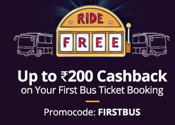 Get Up To Rs.200 Cashback on Your First Bus Bookings