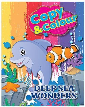 Flat 50% off on Deep Sea Wonders Copy & Colour + 5% Coupon
