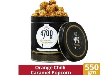 Flat 63% Off: 4700BC Orange Chilli Caramel Popcorn, Tin, 550g