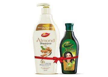 Flat 50% off on Dabur Almond Shampoo, 350ml with Free Amla Hair Oil, 275ml
