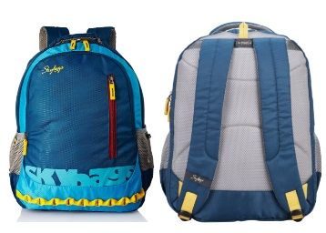 Flat 52% off on Skybags Blue Laptop Backpack