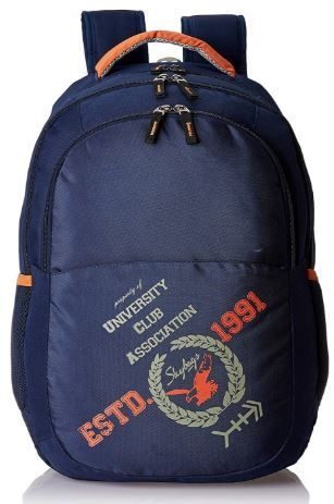 Flat 50% off on Skybags Geek 48 Ltrs Blue Laptop Backpack