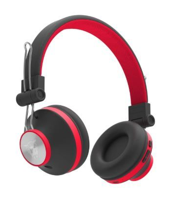 Flat 50% off on Ant Audio Treble H82 On-Ear Bluetooth Wireless Headphones with Mic (Black and Red)