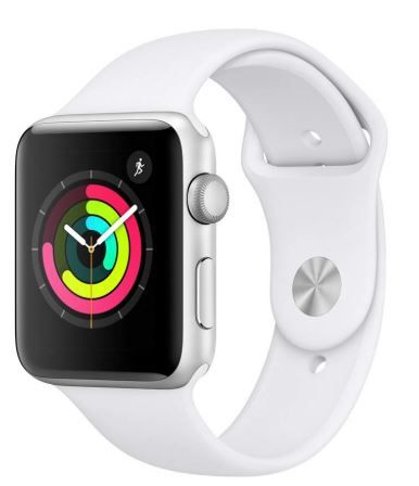 Flat 14% off on Apple Watch Series 3 (GPS, 42mm) - Silver Aluminium Case with White Sport Band