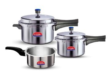 Flat 35% off on Nandi Super Cooker Combo 2L, 3L and 5L, Non-Induction Base