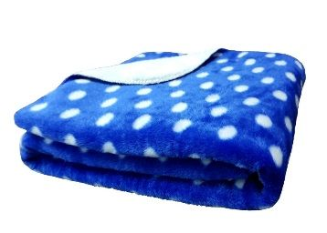 Flat 74% off on Brandonn Polka Wrapping Sheet Cum Baby Blanket for Babies (Royal Blue, 75cmx98cm)