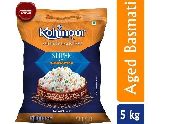 Flat 50% Off: Kohinoor Super Silver Aged Basmati Rice,5kg at Rs. 475