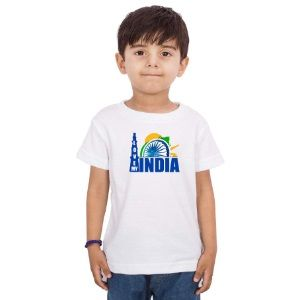 15TH August Happy Independence Day Printed Casual India Kids Cotton T-Shirt At Rs.449