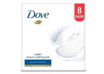 Dove Cream Beauty Bathing Bar, 100g (Pack of 8) At Rs. 348