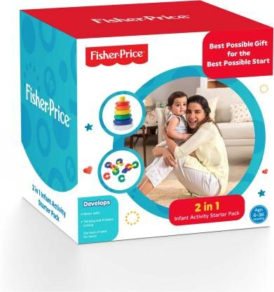Fisher-Price 2 IN 1 Infant Activity Starter Pack For Growing Kids