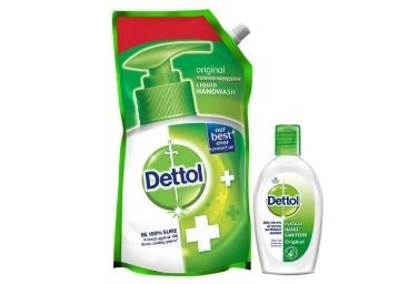 Dettol Germ Protection Liquid Handwash Refill, Original - 750 ml with Dettol Instant Hand Sanitizer - 50ml at Rs.99