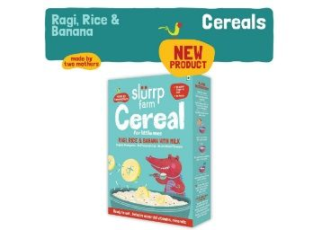 Apply 50% Coupon - Slurrp Farm Organic Baby Cereal, Ragi, Rice and Banana with Milk, Instant Healthy Wholesome Food for Babies, 200g