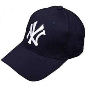 Flat 75% off - Handcuffs Stylish Cotton Baseball Adjustable Navy Blue Cap for Men/Women