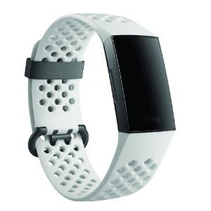 Flat 25% off on Fitbit Charge 3 Fitness Activity Tracker Special Edition (Graphite and White Silicone) with Offer on Accessory