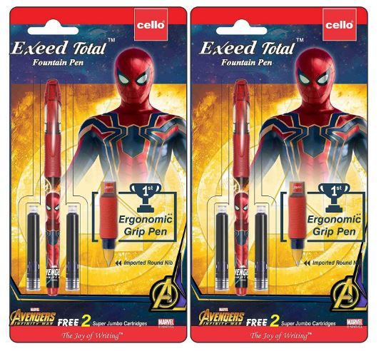 Cello Exeed Total Spiderman Fountain Pen -2 pen Combo at Rs.114