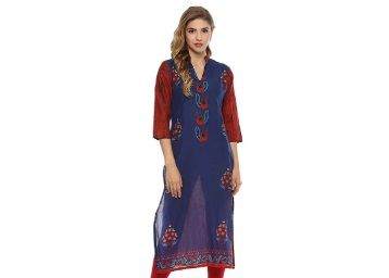 Flat 83% off on Ziyaa Indimania Women Kurta at Rs. 299
