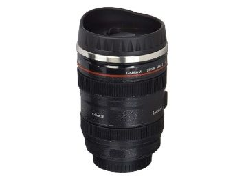 Shoptoshop Camera Lens Shaped Coffee Mug with Lid, 400 Ml, Black at Rs. 278