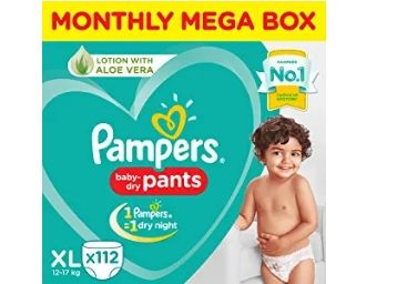 31% Off On Pampers New Diapers Pants, X-Large (112 Count) at Rs. 1457