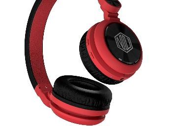 Flat 70% Off On Nu Republic Starboy X-Bass Wireless Headphone with Mic (Red & Black) at Rs. 899
