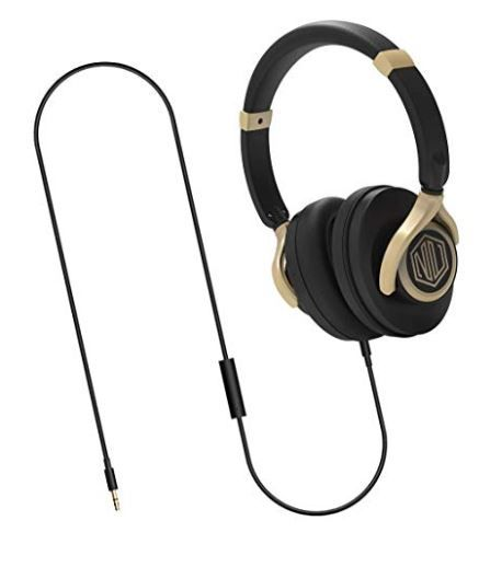 84% Off On Nu Republic Starboy W Wired Headphone with Mic (Black and Gold) at Rs. 399