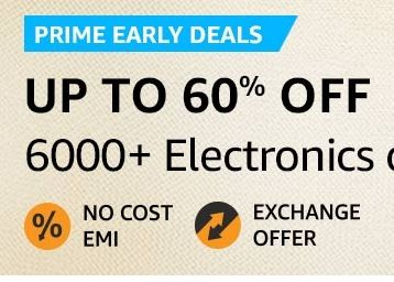 Up to 60% off | Electronics & accessories + Bank Offer