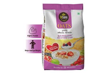 Disano High in Protein and Fibre Oats Pouch, 1 kg at Rs. 99