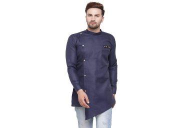Ben Martin Men Rich Cotton Blend Short Designer Kurta at Rs. 529