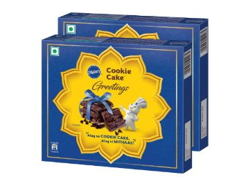 Min. 50% off on Pillsbury Cookie Cake - Greetings Gift Pack, Pack of 2, 240g at Rs. 150
