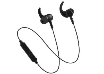 pTron BassFest Stereo in-Ear Wireless Bluetooth Headphones with Mic - (Black) at Rs. 399
