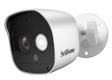 Srihome SH029 3MP Ultra HD 1296p Wireless WiFi Waterproof Indoor/Outdoor IP Security Camera CCTV with 2 Way Audio at Rs. 1899