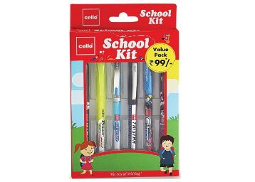 Apply 5% Coupon - Cello School Kit Pen Set - Pack of 6 (Multicolor) at Rs.