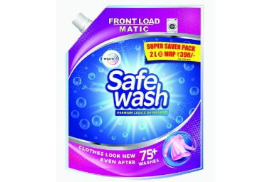 Flat 50% off on Safewash Matic Liquid Detergent Front Load 2L at Rs. 195
