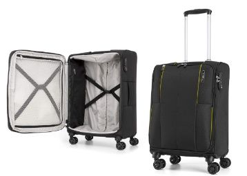 Samsonite Kenning Polyester 55 cms Black Softsided Cabin Luggage at Rs. 6078