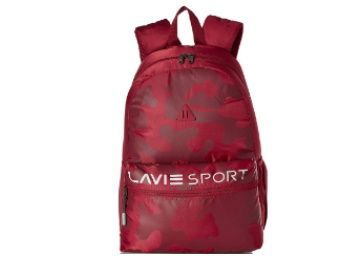 Flat 76% off on Lavie Sport 24 Ltrs Red Casual Backpack at Rs. 599