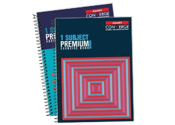 Luxor 1 Subject Spiral Premium Exercise Notebook, Single Ruled - (21cm X 29.7cm), 160 Pages, Pack of 2 at Rs. 129