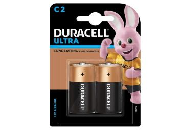 Duracell C Alkaline Battery with Duralock Technology (Black and Brown, Pack of 2) at Rs. 245