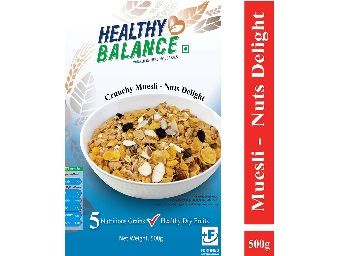 Healthy Balance Crunchy Muesli - Nuts Delight 500gm At Rs.192