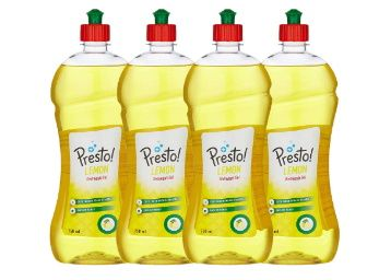 FLat 41% off - Amazon Brand - Presto! Dish wash Gel - 750 ml (Pack of 4) at rs. 389