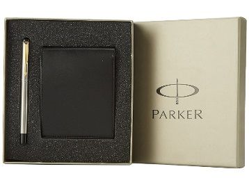 Parker Vector Gold Trim Fountain Pen with Free Wallet, Gold Nib (Stainless Steel) At Rs.671