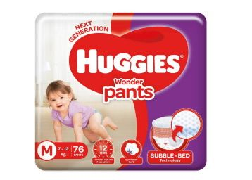 Huggies Wonder Pants, Medium Size Diapers, 76 Count at Rs. 710