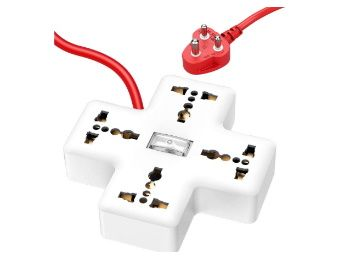 APPUCOCO Plus PP1 4+1 Extension Board; 3 m; White at Rs. 359
