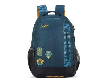 Skybags Stream Polyester 1811 cm Blue Spacious School Backpack At Rs.1050